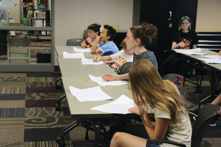 Pop Cultural Classroom teachers stopped by the Golden Library on June 21 to teach children how develop and draw their own comics.