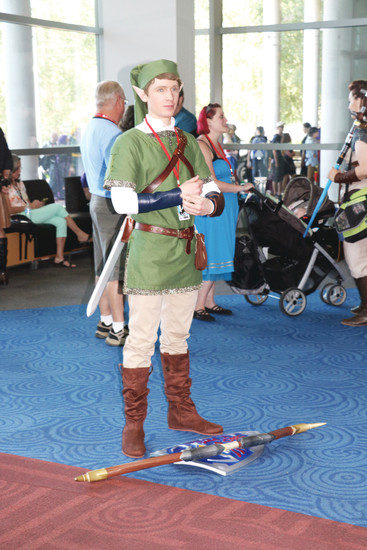 A Link from The Legend of Zelda series cosplayer at Denver Comic Con on July 1.