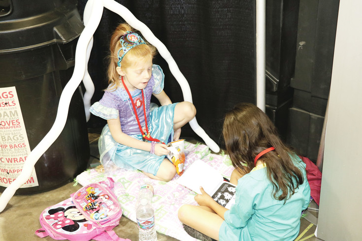 Denver Comic Con provides the opportunity for the next generation of artists, writers and cosplayers to get creative, like Coretta and Allie, from Denver.