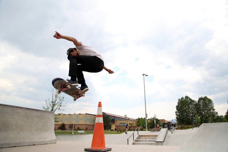 David Bolanos, 23, lives in Denver, but he makes a point to skate the Arvada Skate Park twice a week.