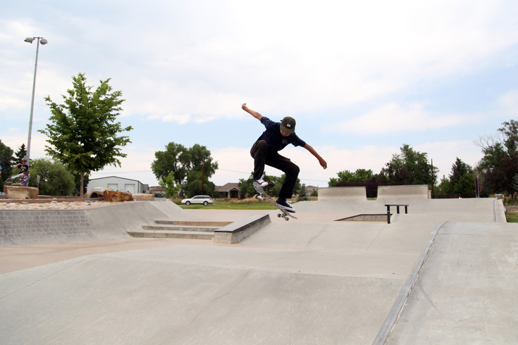 "Leonardo Zorrioora, 13, said he likes to skate at the Arvada Skate Park because it has a ""different style and it's well-made."""