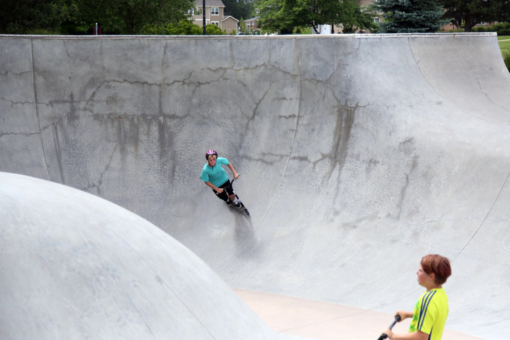 The Arvada Skate Park has 40,000 square feet of skating surface.