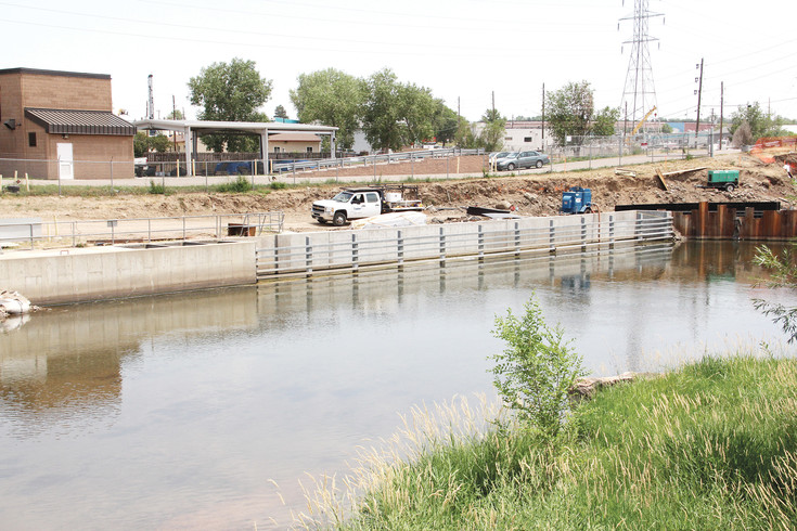 Construction underway at South Platte River near Big Dry Creek July 7, 2017, where construction to divert the creek's flow to change how Englewood intakes water will begin in 2018. The current construction by South Suburban Parks and Recreation District is building a new trail on the east side of the Platte, according to the city of Englewood.