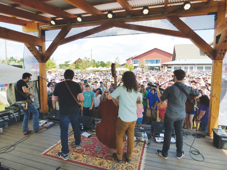 The Jeff Austin band  rocks the Farm Stage.