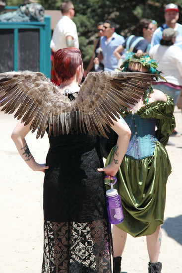 Wings are a popular costume choice at the Colorado Renaissance Festival.