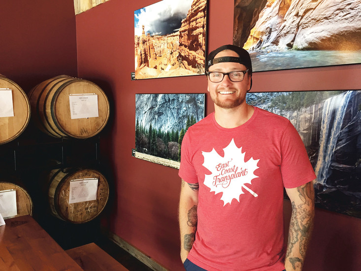 Gavin Estes is the general manager at New Image Brewing. His photography is also showcased in the taproom.