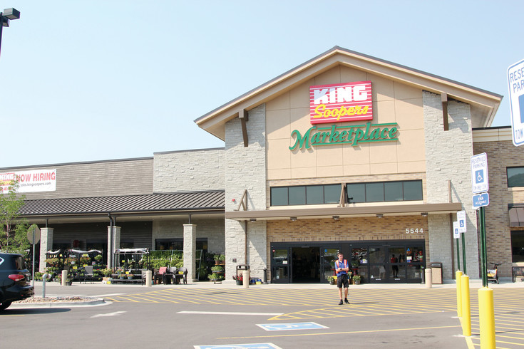 A King Soopers Marketplace is located at 5544 Promenade Parkway in Castle Rock. The store features grocery, clothing, health, toy and home good departments.
