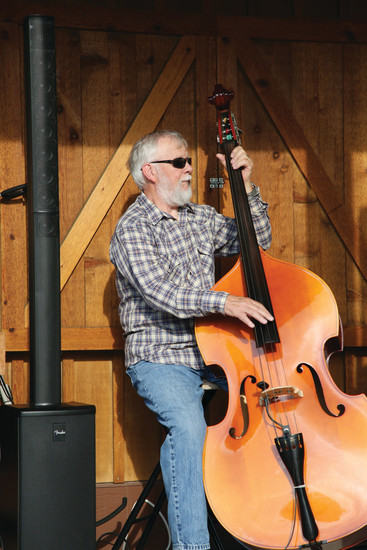 Doug Williamson plays stand up bass with the Arvada Jam Band.