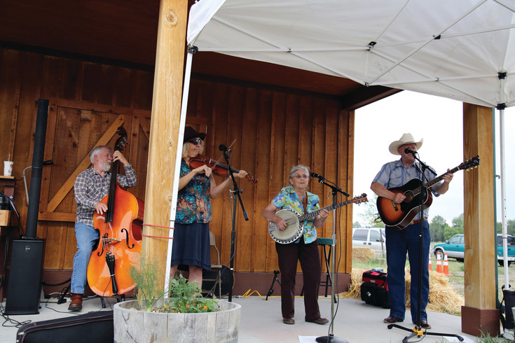 The Arvada Jam Band played at Star Acre Farm's First Friday event.