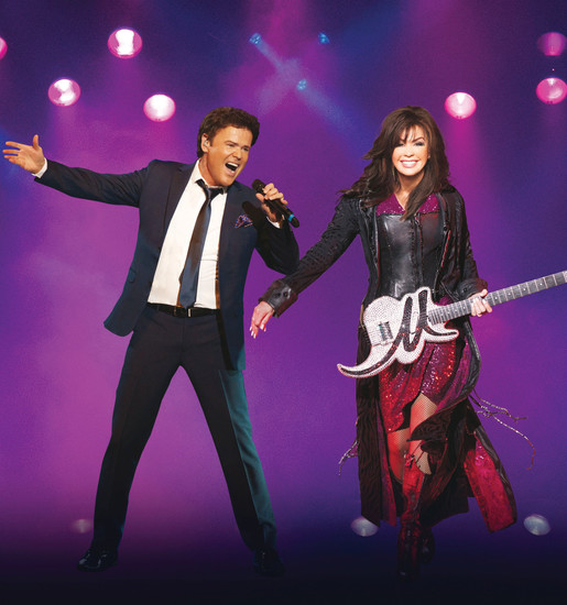 Donny and Marie Osmond will appear in concert at Hudson Gardens and Event Center in Littleton on July 18.