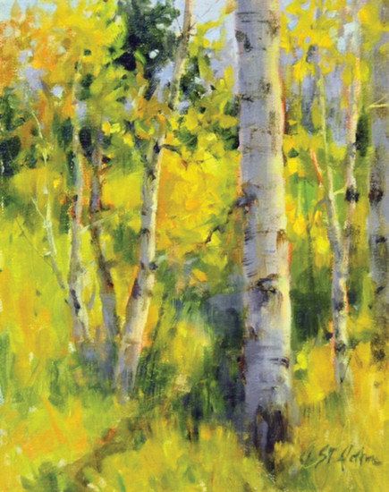 """Aspen Meadow,"" oil, by Denver plein air painter Cheryl St. John is an example of the art work she and others will produce during ""Plein Air at Highlands Ranch Mansion"" on July 22."