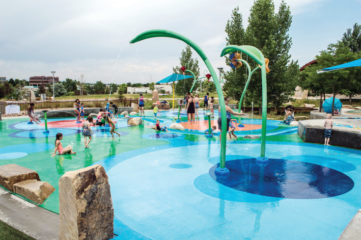 Centennial Center Park, at 13050 E. Peakview Ave., was recently ranked among the top 10 for splash pads in the United States by USA Today.