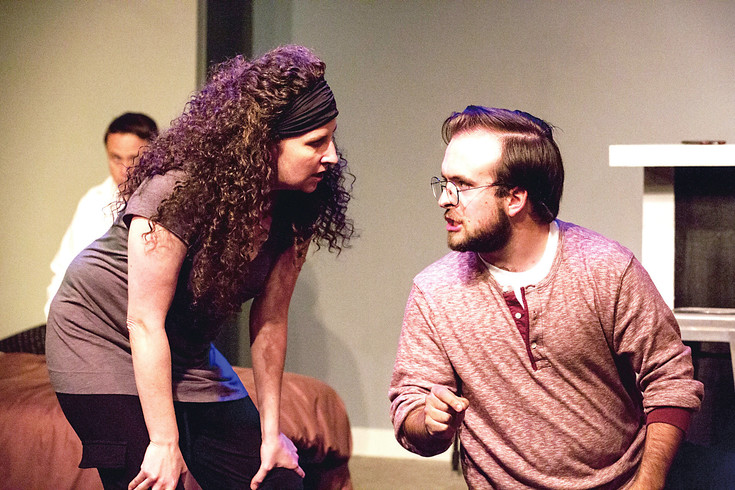 "Missy Moore and John Wittbrodt are two members of a family at war with each other following the death of their grandfather in ""Bad Jews"" at The Edge Theater. Courtesy photo"