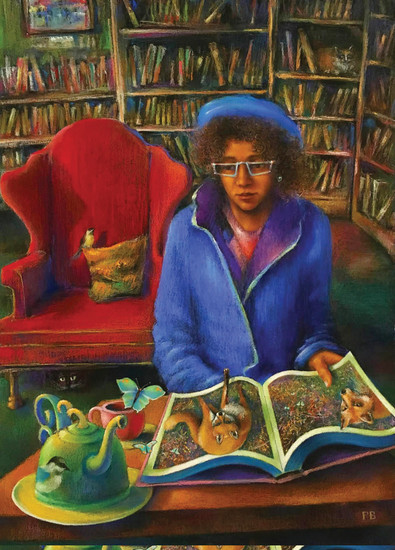 """The Magic of Books,"" 29"" x 21"" pastel by Paul Birchak, won Best of Show in the Pastel Society of Colorado's Mile High National Pastel Exhibition, which runs through Aug. 20 at the Littleton Museum."