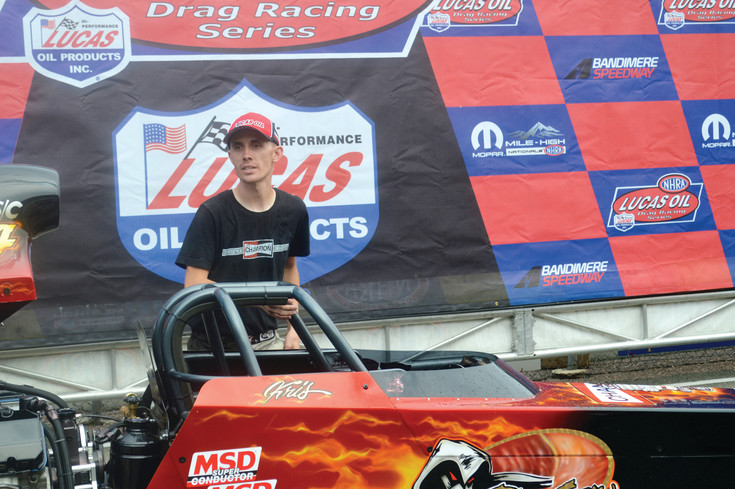 Kris Whitfield of Littleton won the Super Comp division July 23 at the Mopar Mile High Nationals held at Bandimere Speeday in Morrison.