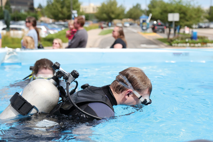 Denver area residents were able to test out scuba gear for free this past weekend.