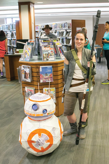 Koelbel Con—the third annual event—will celebrate fantasy, fairy tales, pop culture from 1 to 6 p.m. on July 30 at Koelbel Library. This Star Wars combo appeared last year for the event.