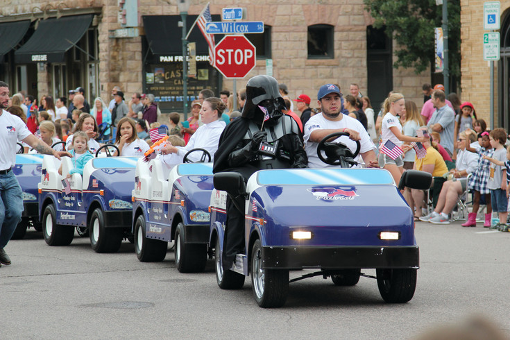 In attendance at the Castle Rock parade was Darth Vader, who hitched a ride on a float during the event.