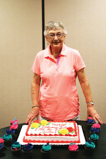 Beth Whyman celebrated her 90th birthday with her golf group at Indian Tree Golf Club.