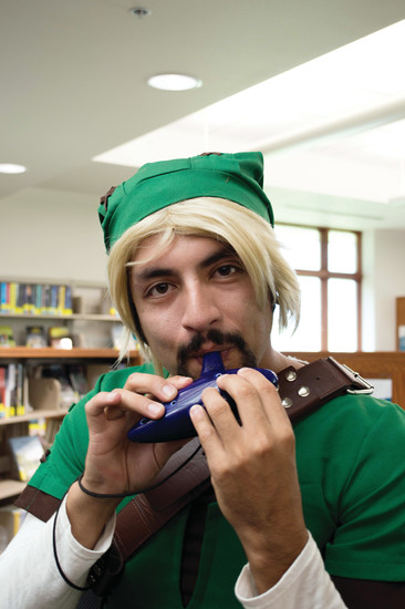 Arturo Sanchez dressed as Link: Ocarina of Time at Koelbel Con at the Koelbel Library on July 30.