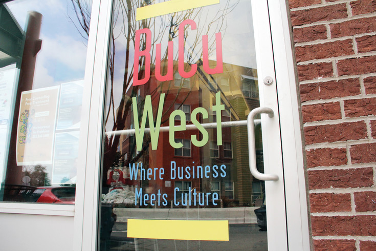 The front door at BuCu West Development Association at 4200 Morrison Rd. July 26. BuCu West is a nonprofit that works to support the Morrison Road commercial corridor and the Westwood neighborhood.