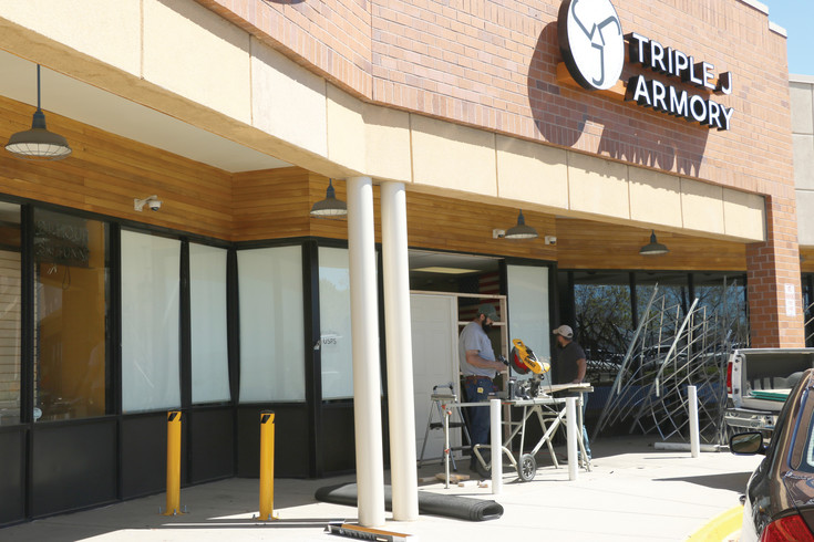 In one of numerous recent gun store burglaries in the area, firearms were stolen from the Triple J Armory at 311 E. County Line Road in Littleton in May. File photo