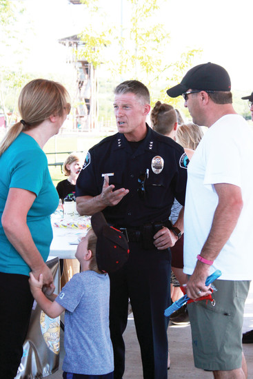 Chief of Police Jack Cauley was on hand to meet the public at Castle Rock's National Night Out, one of his favorite events of the year, the chief said.