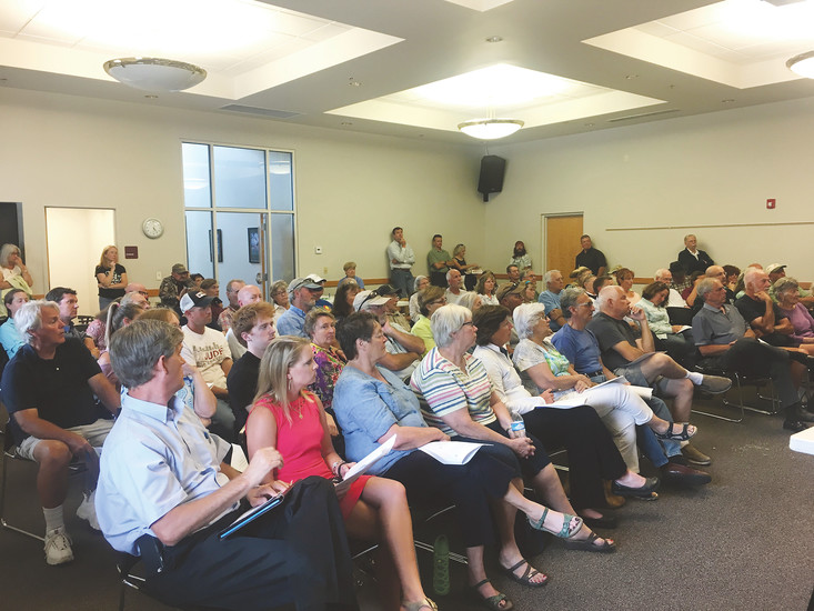 Douglas County residents gathered in Larkspur on July 25 for a public meeting on a mysterious pipeline planned in the county.