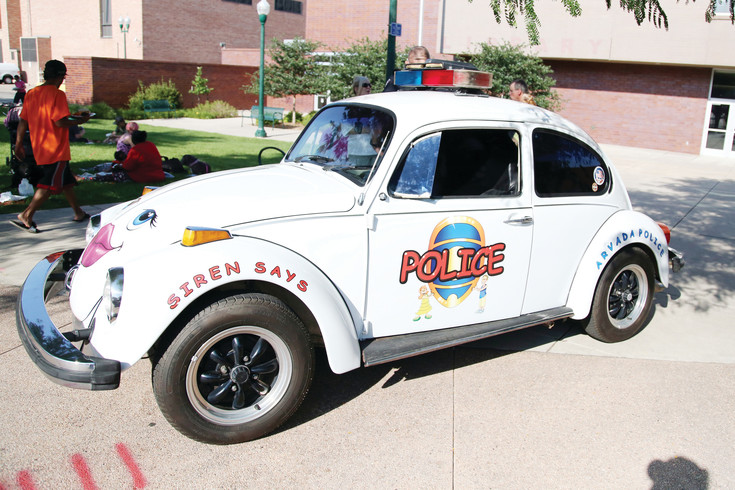 The Arvada Police bug was in attendance at the celebration.