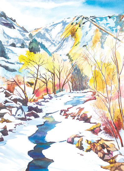 """Clear Creek Path"" is one of Janet Nunn's watercolor paintings that will be available for purchase at her booth at the Golden Fine Arts Festival, which takes place Aug. 19 and 20 in historic downtown Golden."