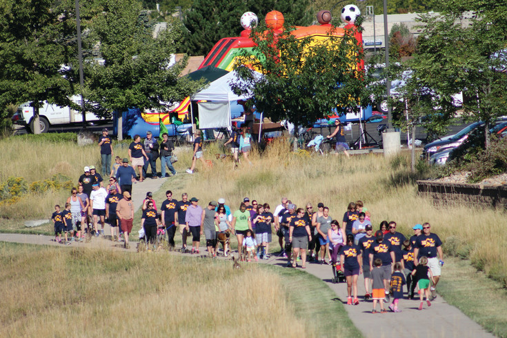 Community members participate in last year's Run for One 2K family fun run at Mountainview Community Christian Church, 40 East Highlands Ranch Parkway. This year's fundraiser starts at 9 a.m. on Sept. 9.