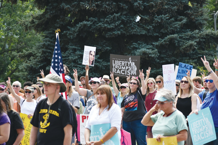 Hundreds of people turned out at the Capitol in Denver on Aug. 20 to rally for peace.