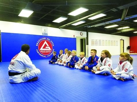 Kids as young as 5 years old attend a Gracie Barra Centennial Jiu-Jitsu class, where they learn discipline and self defense. The type of martial arts is offered to kids and adults at 4181 East County Line Road.