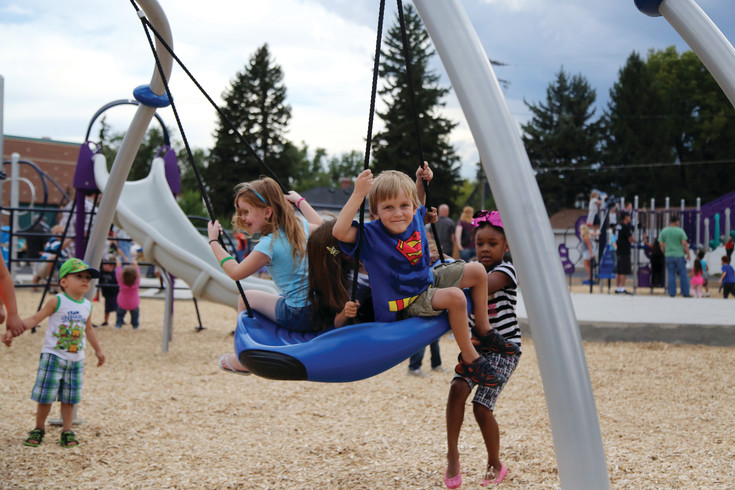 The playground opened to the community Aug. 15 just in time for the new school year.