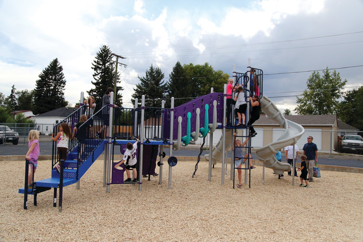 The new playground replaces unsafe, outdates play equipment.