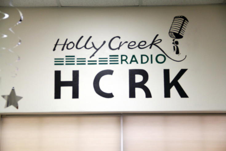 A logo for the Holly Creek Retirement Community radio station Aug. 11, which was made by a Holly Creek resident. The station is run by volunteers who live in the community.