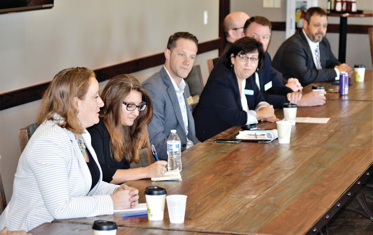 Candidates for Westminster's three open City Council seats discuss their ideas at a short a breakfast forum Aug. 25 at the Grill at Walnut Creek Golf preserve.