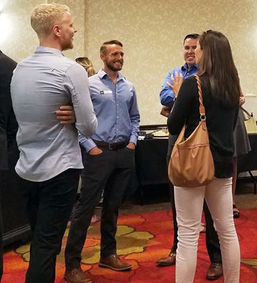 Young Professionals of Highlands Ranch meet for the first happy hour at Hilton Garden Inn in Highlands Ranch. The Highlands Ranch Chamber of Commerce started the group this summer to for its younger members.