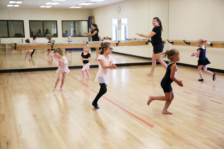 The new Simms Street Recreation Center dance room hosts classes for several ages.