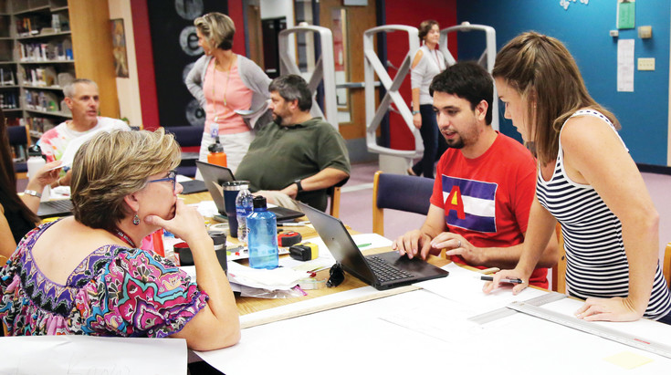 Before students started school this year, teachers at Arvada High came together to practice project based learning.
