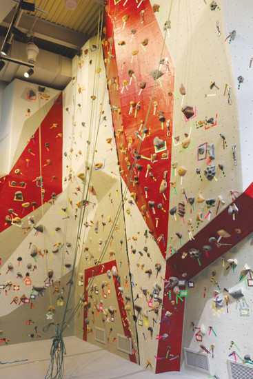 Red Rocks Community College collected student input on what should go in the school's new student recreation center, and the top request was a climbing wall.