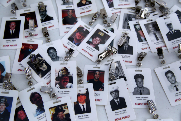 Tags honoring those who died on Sept. 11, 2001 were available for climbers to wear in remembrance of the lives lost.