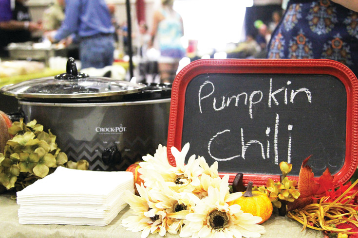 Shelley Morris, who hoped to break into the top ten of the chilifest competition, added a cup of pumpkin puree to her chili for a twist on the classic recipe.