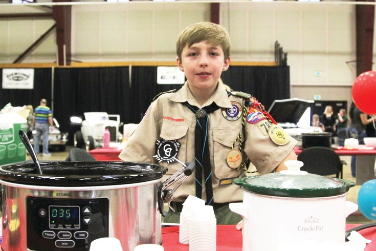 Tyler Church made both mild and spicy green chili to enter into the chilifest competition.