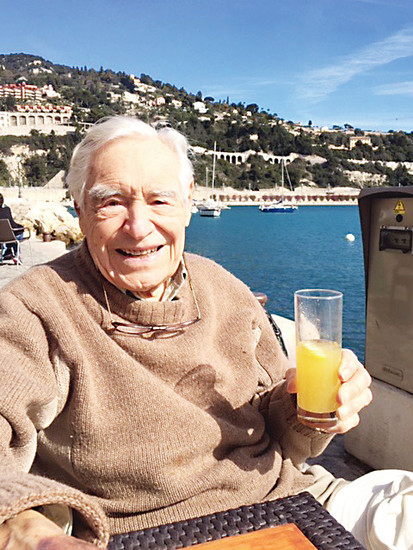 Peter Neidecker at Villefranche-sur-Mer, France. Neidecker, a man with deep roots in the Englewood community, died at 92 last month. Photo courtesy Pete Neidecker (son)