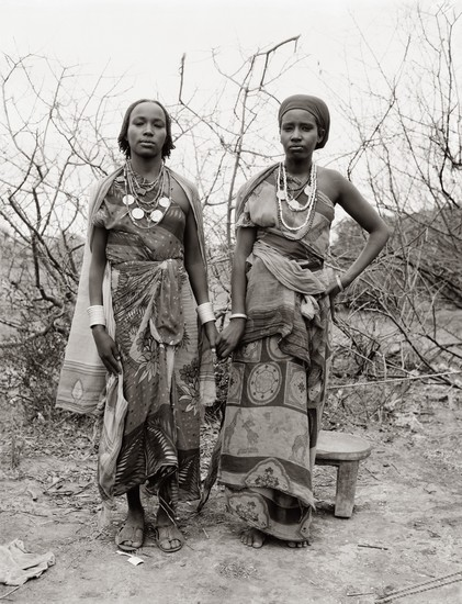 "Photographer Fazal Shah's new exhibit, ""Common Ground,"" contains portraits he recorded between 1989 and 2013 of people in displaced or marginalized communities. This portrait, ""War Widows, Dakie Galma Sora and Dira Wako Guyo,"" shows the women at an Ethiopian refugee camp in Walda, Kenya. They walked 600 miles in search of a new home."