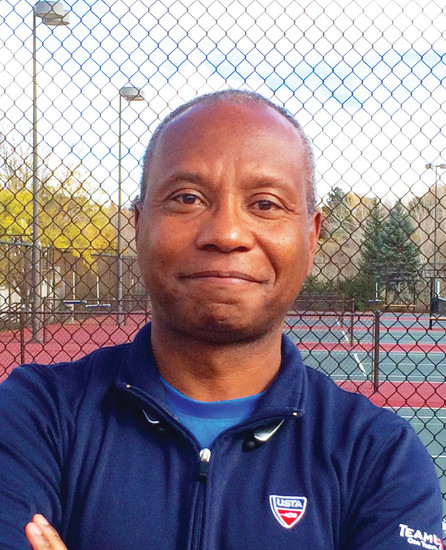 Frank Adams, an Air Force veteran with a passion for teaching tennis. Adams started the Highlands Ranch Community Association's tennis program 20 years ago.