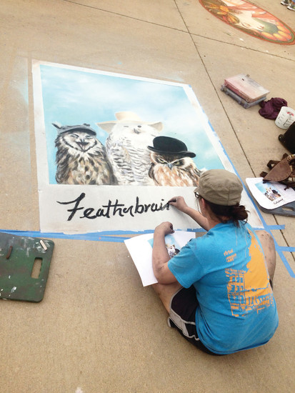 New to this year's RidgeFest was a chalk art competition on the sidewalks outside Stevens Elementary.