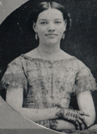 Mollie Sanford in 1857.