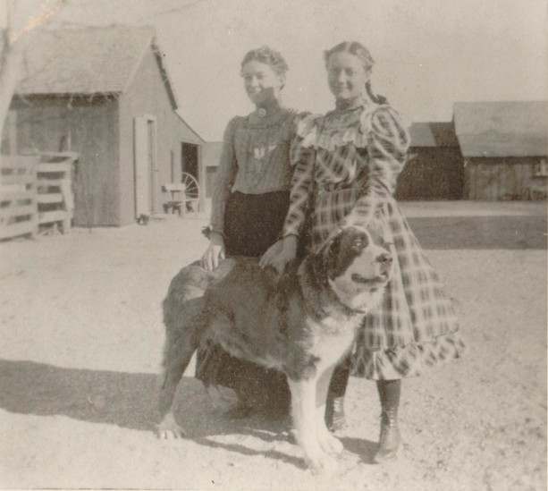 Ida Welte, left, and sister Marie Welte on Dry Creek Cheese Ranch southeast of Littleton in 1898.